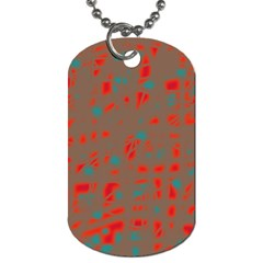 Red And Brown Dog Tag (two Sides) by Valentinaart