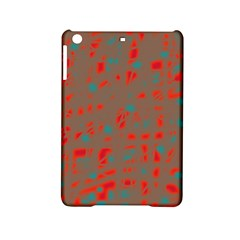 Red And Brown Ipad Mini 2 Hardshell Cases by Valentinaart