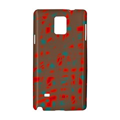 Red And Brown Samsung Galaxy Note 4 Hardshell Case by Valentinaart