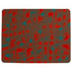 Red And Brown Jigsaw Puzzle Photo Stand (rectangular) by Valentinaart