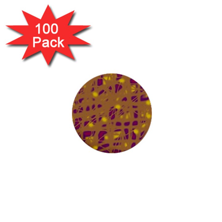 Brown and purple 1  Mini Buttons (100 pack)