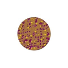 Brown And Purple Golf Ball Marker (4 Pack) by Valentinaart