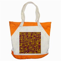Brown And Purple Accent Tote Bag by Valentinaart