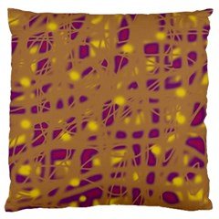 Brown And Purple Large Flano Cushion Case (two Sides) by Valentinaart