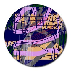 Abstract High Art By Moma Round Mousepads by Valentinaart