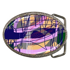 Abstract high art by Moma Belt Buckles by Valentinaart