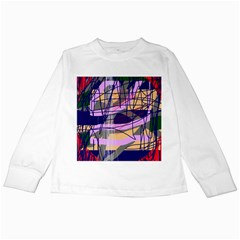 Abstract High Art By Moma Kids Long Sleeve T Shirts by Valentinaart