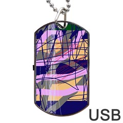 Abstract High Art By Moma Dog Tag Usb Flash (two Sides)  by Valentinaart