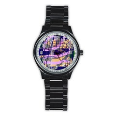 Abstract High Art By Moma Stainless Steel Round Watch by Valentinaart