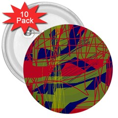 High Art By Moma 3  Buttons (10 Pack)  by Valentinaart