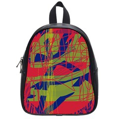 High Art By Moma School Bags (small)  by Valentinaart