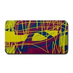Yellow High Art Abstraction Medium Bar Mats by Valentinaart