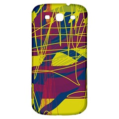 Yellow High Art Abstraction Samsung Galaxy S3 S Iii Classic Hardshell Back Case by Valentinaart