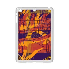 Orange High Art Ipad Mini 2 Enamel Coated Cases by Valentinaart
