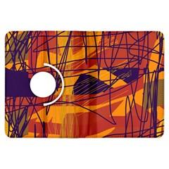 Orange High Art Kindle Fire Hdx Flip 360 Case by Valentinaart