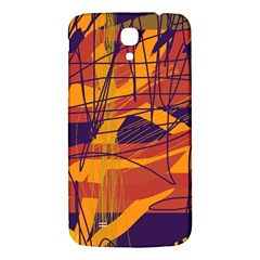 Orange High Art Samsung Galaxy Mega I9200 Hardshell Back Case by Valentinaart