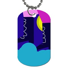 Walking On The Clouds  Dog Tag (one Side) by Valentinaart