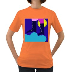 Walking On The Clouds  Women s Dark T Shirt by Valentinaart