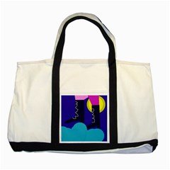 Walking On The Clouds  Two Tone Tote Bag by Valentinaart