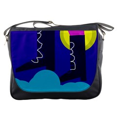 Walking On The Clouds  Messenger Bags by Valentinaart