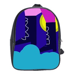 Walking On The Clouds  School Bags (xl)  by Valentinaart