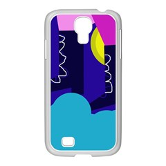 Walking On The Clouds  Samsung Galaxy S4 I9500/ I9505 Case (white) by Valentinaart