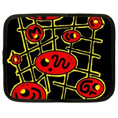Red And Yellow Hot Design Netbook Case (large) by Valentinaart