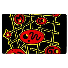 Red And Yellow Hot Design Apple Ipad 3/4 Flip Case by Valentinaart