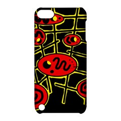 Red And Yellow Hot Design Apple Ipod Touch 5 Hardshell Case With Stand by Valentinaart
