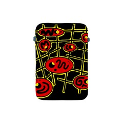 Red And Yellow Hot Design Apple Ipad Mini Protective Soft Cases by Valentinaart