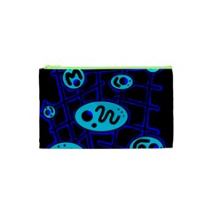 Blue Decorative Design Cosmetic Bag (xs) by Valentinaart