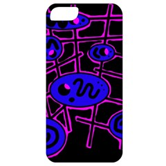 Blue And Magenta Abstraction Apple Iphone 5 Classic Hardshell Case by Valentinaart