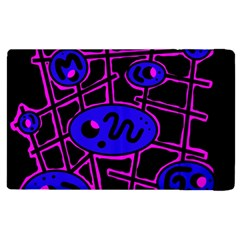 Blue And Magenta Abstraction Apple Ipad 2 Flip Case by Valentinaart