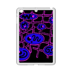 Blue And Magenta Abstraction Ipad Mini 2 Enamel Coated Cases by Valentinaart
