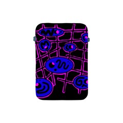 Blue And Magenta Abstraction Apple Ipad Mini Protective Soft Cases by Valentinaart