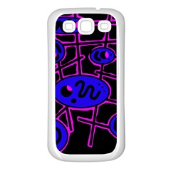 Blue And Magenta Abstraction Samsung Galaxy S3 Back Case (white) by Valentinaart