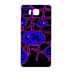 Blue And Magenta Abstraction Samsung Galaxy Alpha Hardshell Back Case by Valentinaart