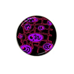 Purple And Red Abstraction Hat Clip Ball Marker (10 Pack) by Valentinaart