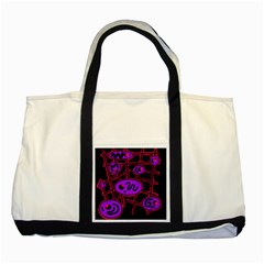 Purple And Red Abstraction Two Tone Tote Bag by Valentinaart