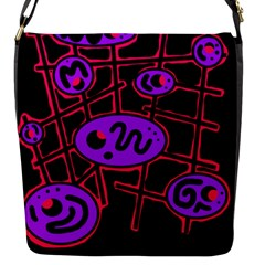 Purple And Red Abstraction Flap Messenger Bag (s) by Valentinaart