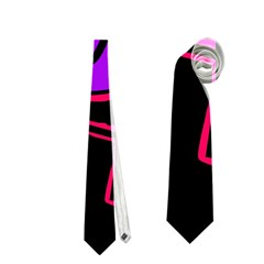 Purple And Red Abstraction Neckties (two Side)  by Valentinaart