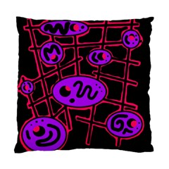 Purple And Red Abstraction Standard Cushion Case (two Sides) by Valentinaart