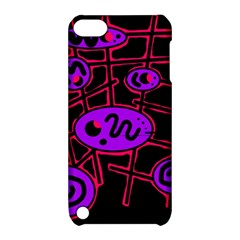 Purple And Red Abstraction Apple Ipod Touch 5 Hardshell Case With Stand by Valentinaart