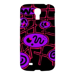 Purple And Red Abstraction Samsung Galaxy S4 I9500/i9505 Hardshell Case by Valentinaart