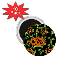 Orange And Green Abstraction 1 75  Magnets (10 Pack)  by Valentinaart