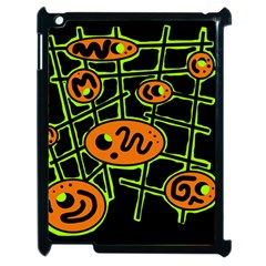 Orange And Green Abstraction Apple Ipad 2 Case (black) by Valentinaart