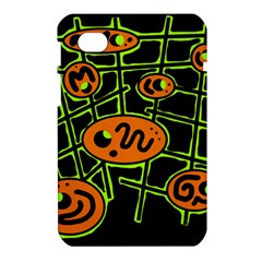Orange and green abstraction Samsung Galaxy Tab 7  P1000 Hardshell Case