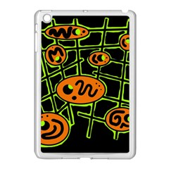 Orange And Green Abstraction Apple Ipad Mini Case (white) by Valentinaart