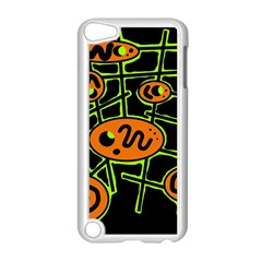 Orange And Green Abstraction Apple Ipod Touch 5 Case (white) by Valentinaart