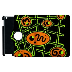 Orange And Green Abstraction Apple Ipad 2 Flip 360 Case by Valentinaart